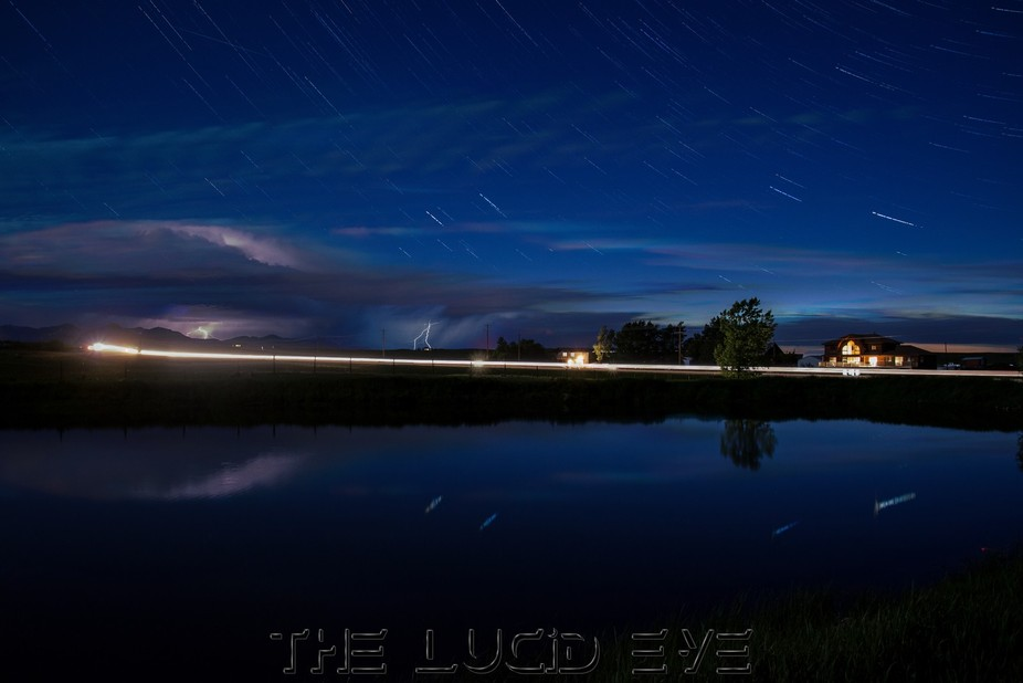 This is a night stack of photos from a timelapse i shot in Mountain View, Alberta.  Looking west ...