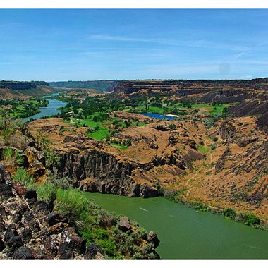 Snake River in the Magic Valley in Idaho
