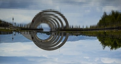 """""""I don't know where i'm going from here, but i promise it won't be boring"""" The Falkirk Wheel Lock looking like another worlds portal."""