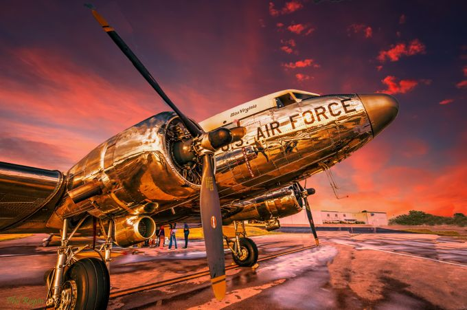 DC-3 in Sunset Light by philipdrispin - Simply HDR Photo Contest