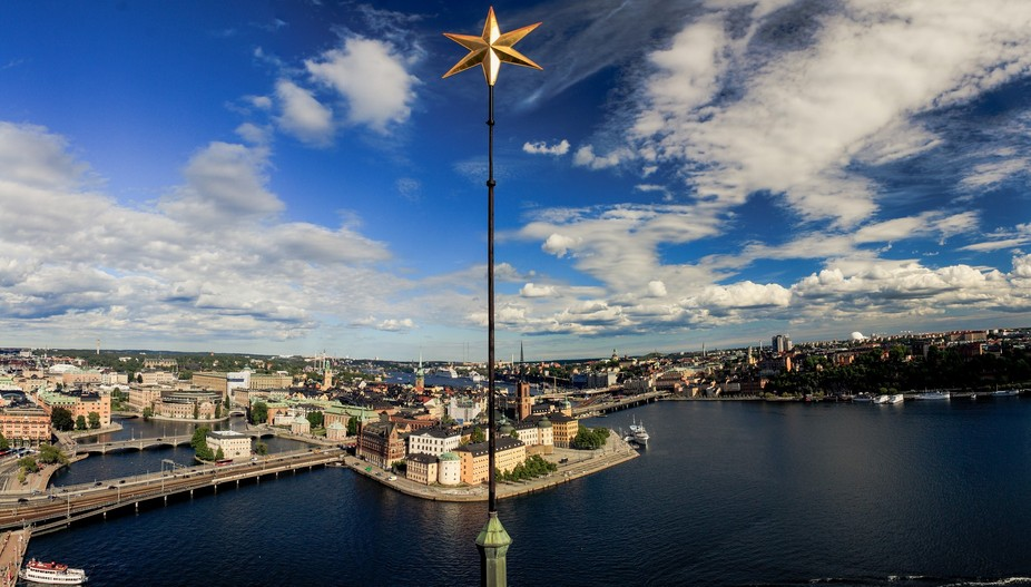 View of Stockholm from Stadshuset tower