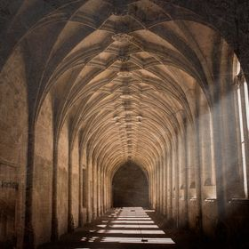 Cloister of the monastery in Bebenhausen, Germany.