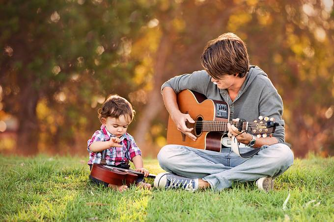 Learning Guitar  by angel09 - We Love Our Dads Photo Contest
