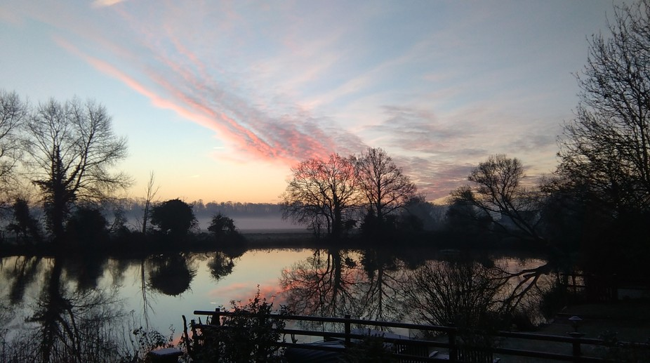 Early one morning in the Waveney Valley, Norfolk. UK