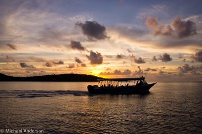 Sunset on Bora Bora
