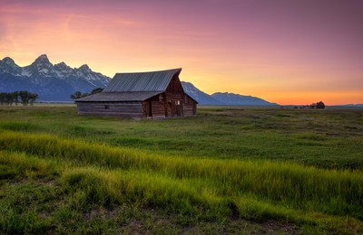Mormon Row Sunset