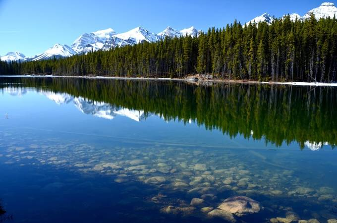 Herbert Lake Reflection by graphicheart - Lakes And Reflections Photo Contest