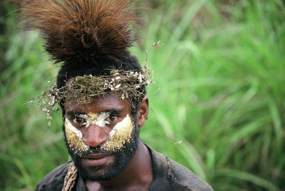 Huli Man, Papua New Guinea Highlands