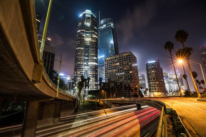 DTLA sunUp  by ShabdroPhoto - City In The Night Photo Contest