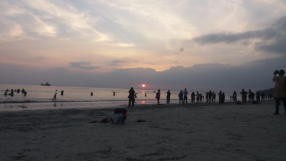 beach side view
