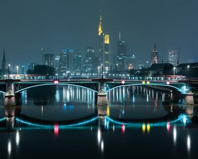 Frankfurt am Main in night time