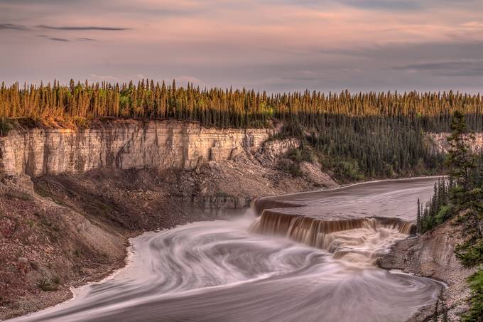 North of 60 - 11pm by ntgreen - Spectacular Cliffs Photo Contest