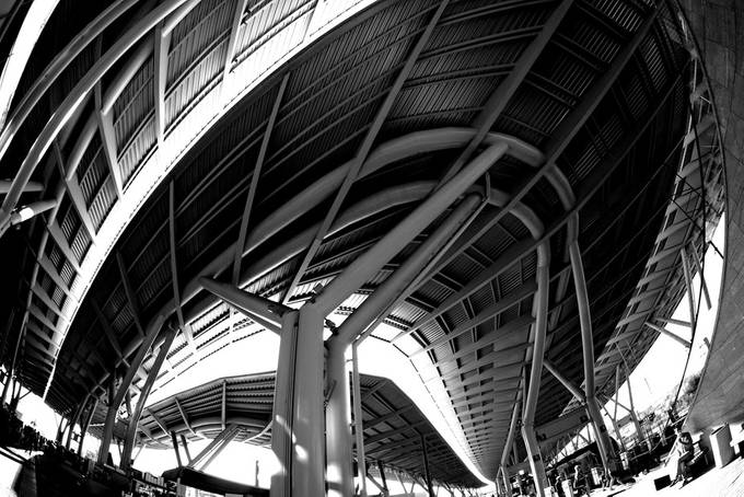 Sochi. Olympic Park. Train station by Servar - Diagonals And Composition Photo Contest