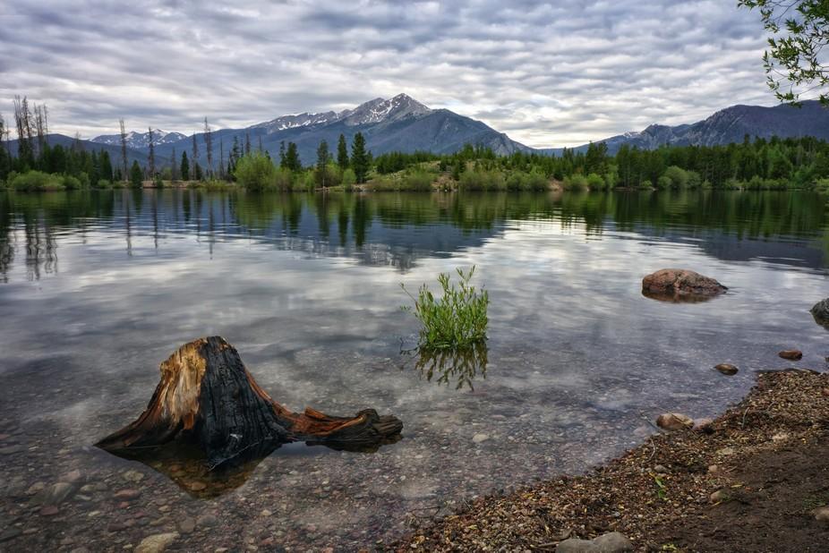 Morning view of Lake Dillon in Frisco, Colorado