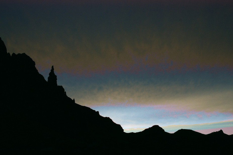 The Old Man of Storr in Scotland ( isle of Skye ) sensor is damaged that's why colours a...