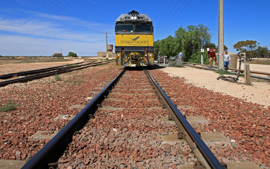 At this point the Indian Pacific crosses southern Australia in a dead straight line for 500 km!