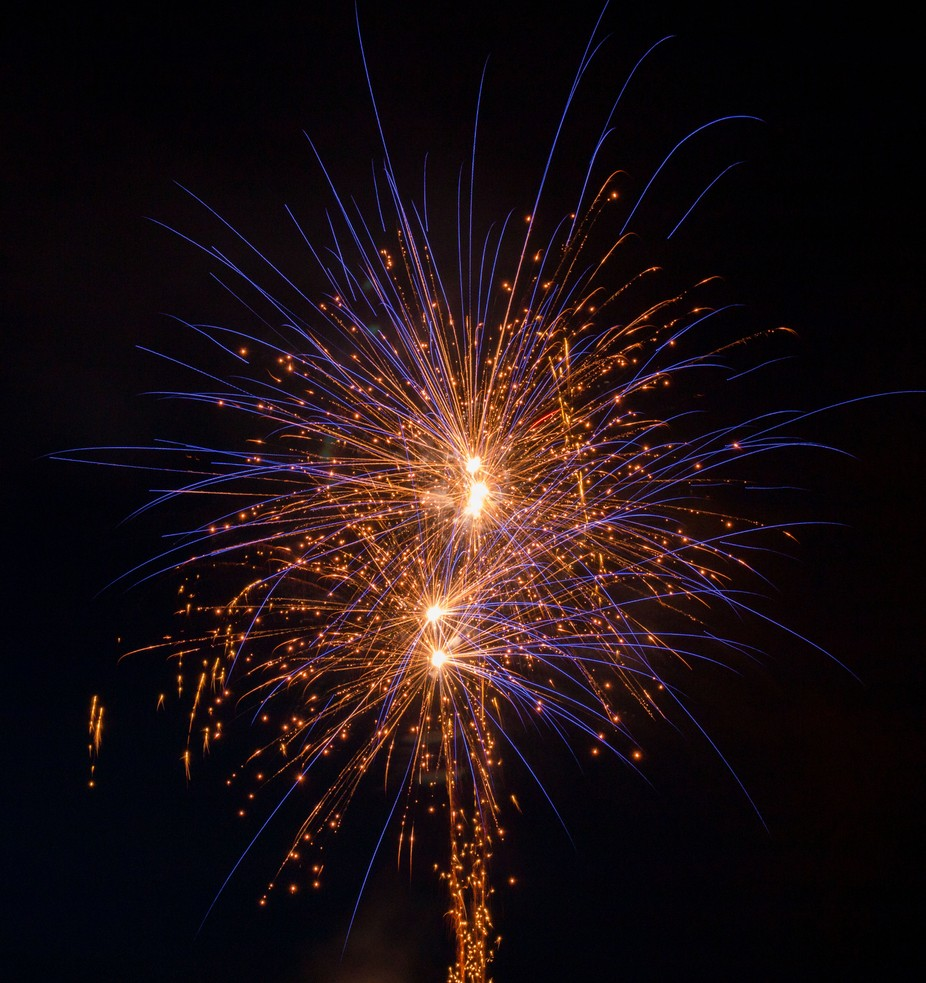 Village firework display for August 1st (Swiss national day).