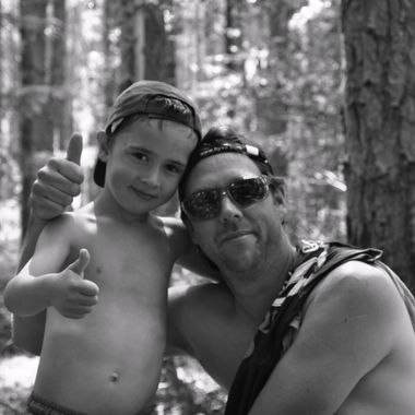 My brother in law with his son on fathers day
