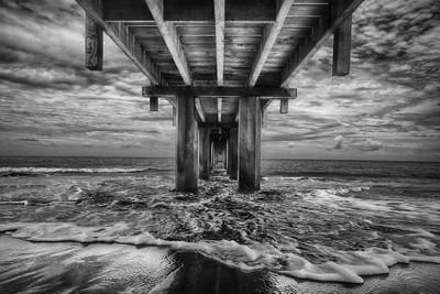 Waimea Pier 2017 Black and White