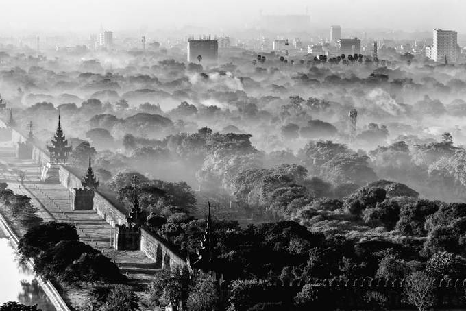 Mandalay city and palace view from Mandalay hill by wanasa - My Favorite City Photo Contest