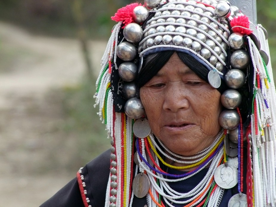 An old woman from hilltribes in Thailand