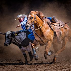 Steer wrestling on the Australian Outback Stations is a way of life and Rodeo is a way for Stockmen/women to teach, learn and compete for little ...