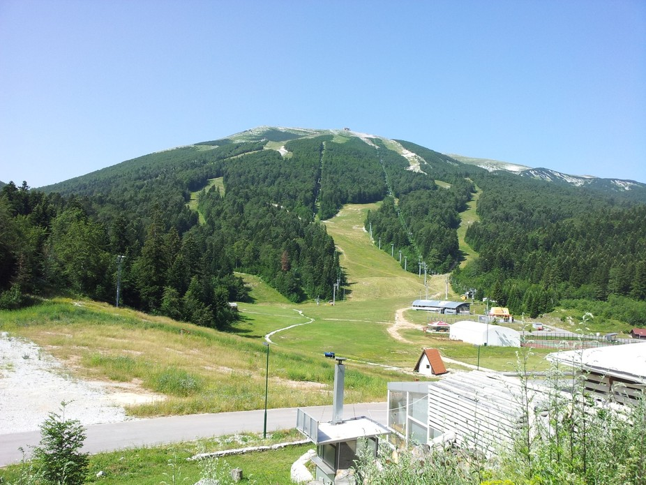Olympic mountain Bjelašnica close to the Olympic city of Sarajevo