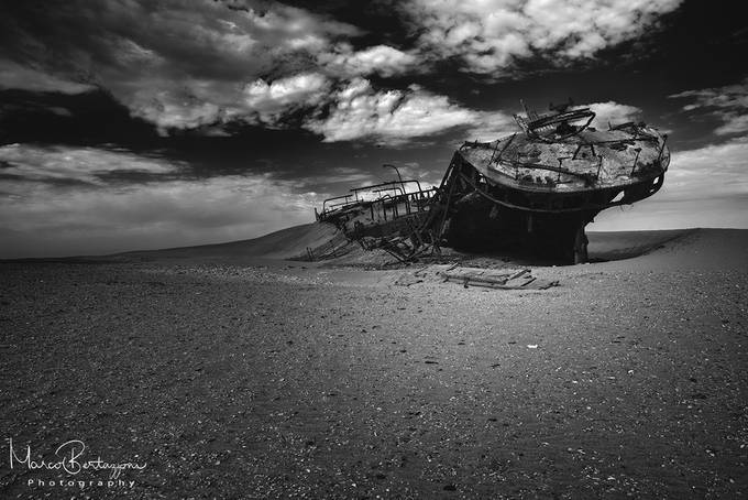 Shipwreck - Namibia by marcobertazzoni - Black And White Landscapes Photo Contest