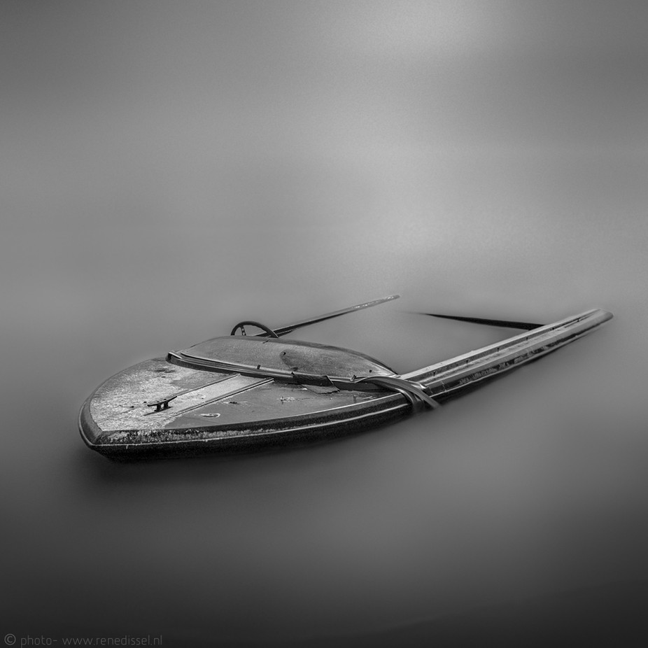 Time to slow down  by Disselfoto - The Water In Black And White Photo Contest