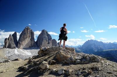 Admiring Tre Cime, Dolomites