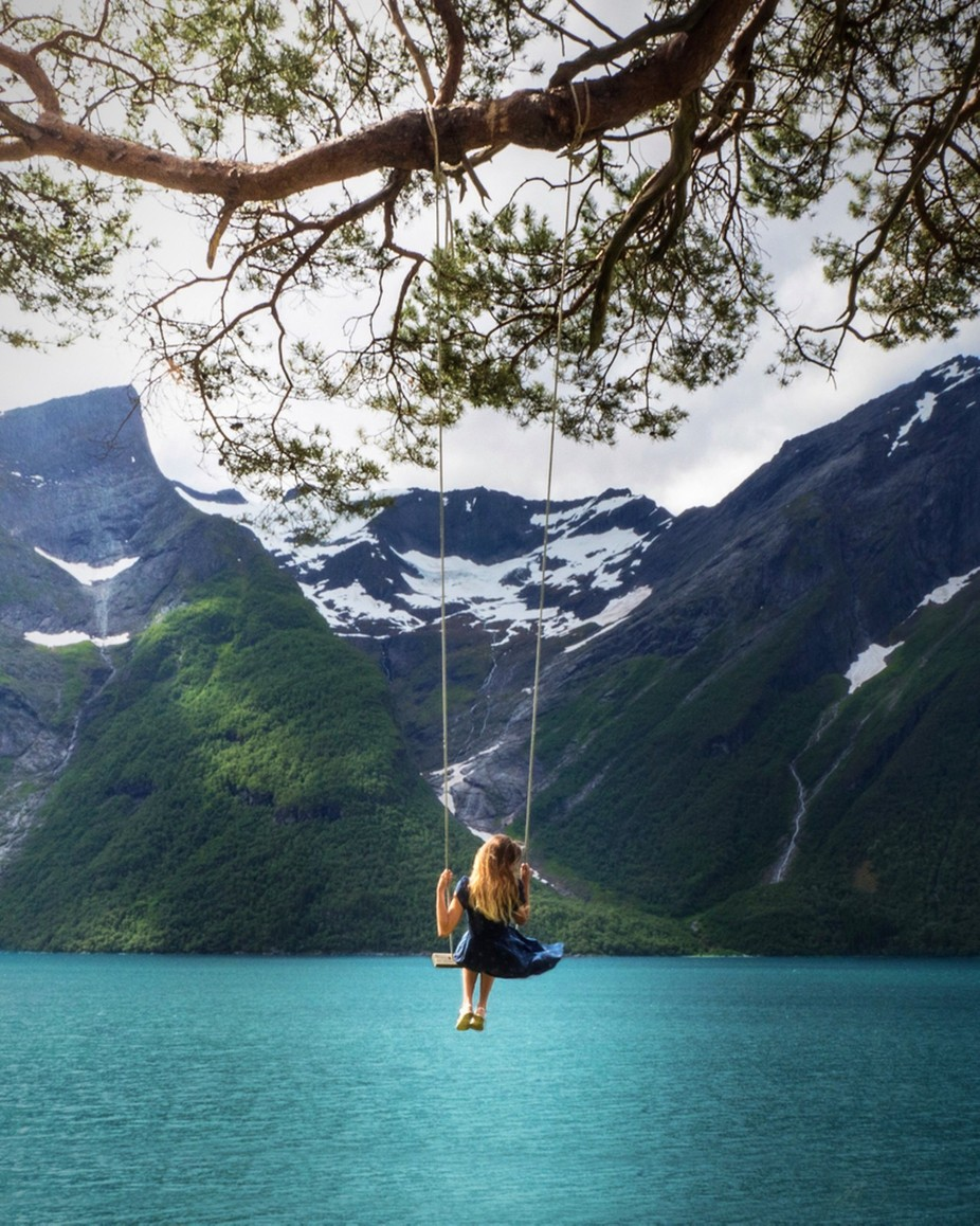 Possibly the most beautiful swing in the world? by Alexannphoto - Post Editing Magic Photo Contest