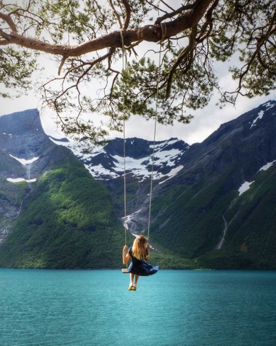 Possibly the most beautiful swing in the world?