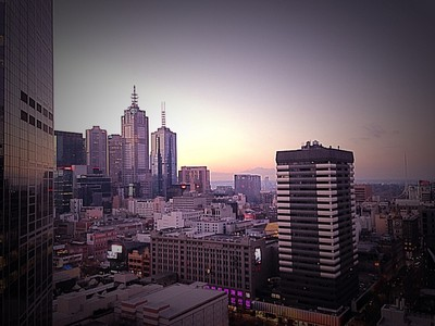 Melbourne in the early morning