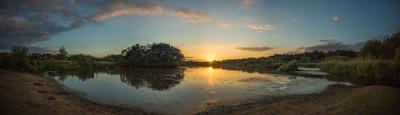 Sunset over Fleet Pond