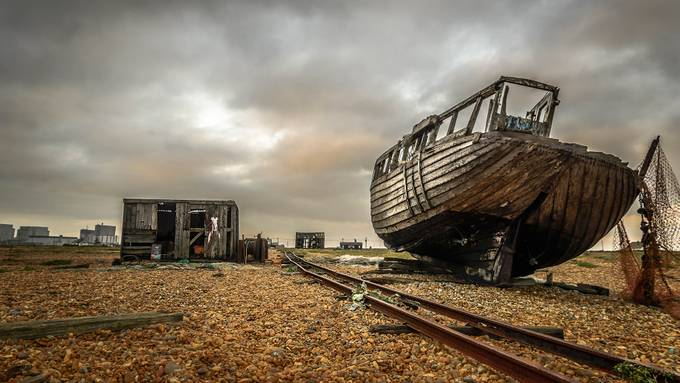 Dungeness beach by wayneobald - Empty Railways Photo Contest