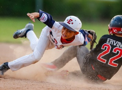 Collision at 2nd base.