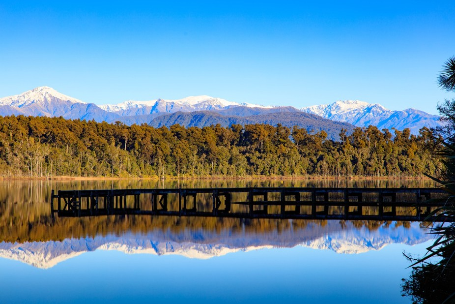 Reflections at Lake Mahinapua, West Coast NZ