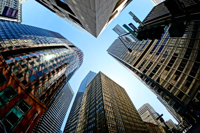 SF from Below by barbarabrock - Tall Structures Photo Contest