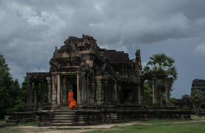 Stormy skies at Angkor Wat
