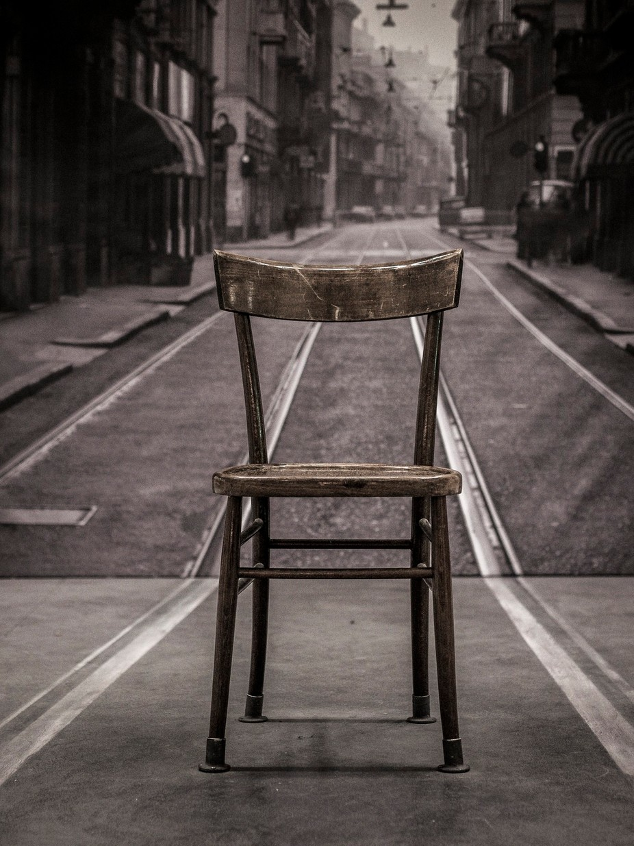 one empty old chair