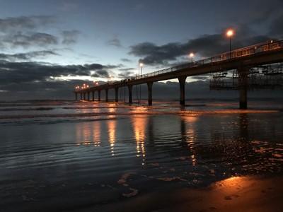 Pre-dawn New Brighton. New Zealand.