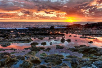 Laguna Beach Tidepools At Sunset