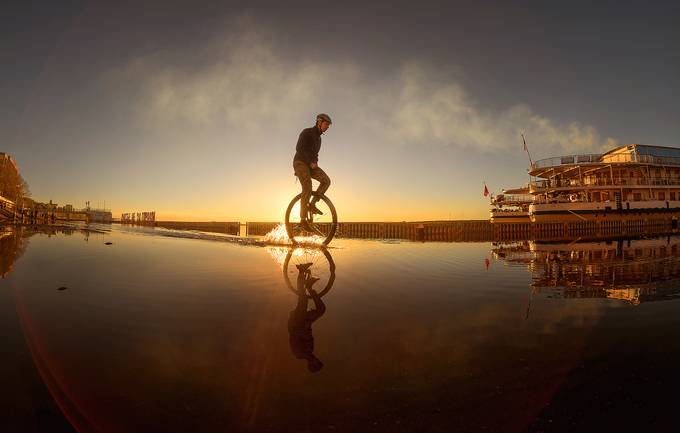Sunset Ride by yurraro - A Low Vantage Point Photo Contest