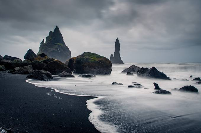Reynisdrangar at Midnight by davidjlong - Covers Photo Contest Vol 40