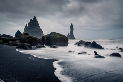 Reynisdrangar at Midnight