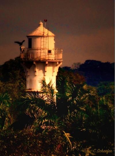 Panama Canal Lighthouse, storm coming through # 5