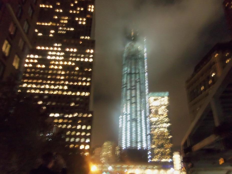 Evening fog over One Trade Center