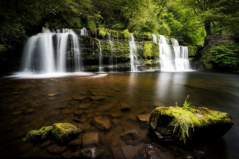 Sgwd yr Pannwr Falls in Wales. Part of the 4 falls trail.
