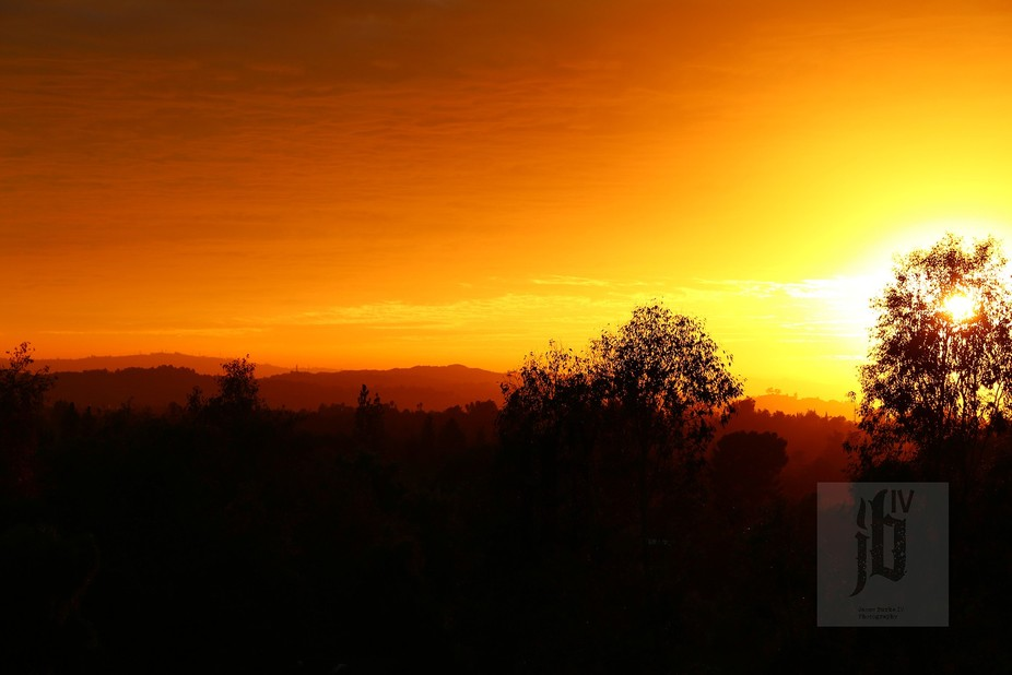 I captured this Amazing Sunset Silhouette while out hiking in California with my Canon 6d - NO ED...
