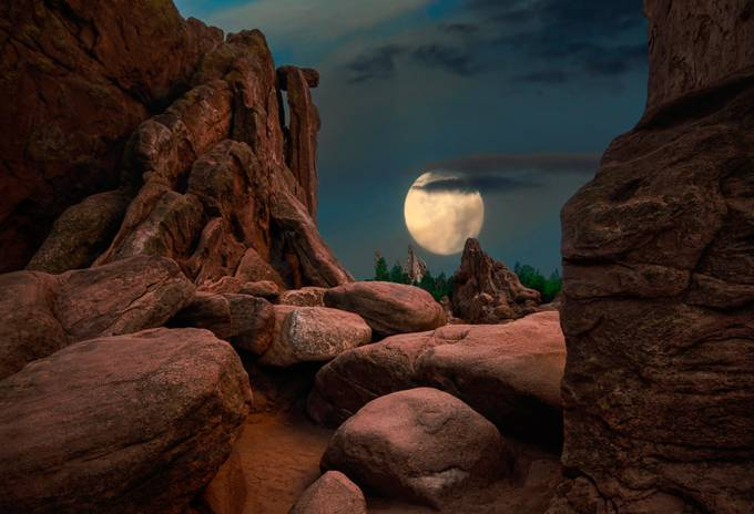 Garden of the Gods: Moonscape by GayleLucci - The Moonlight Photo Contest